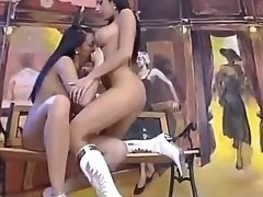 Nice lesbian licks out girlfriend