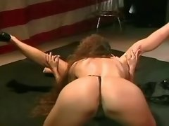 Killer army girls have fun on floor